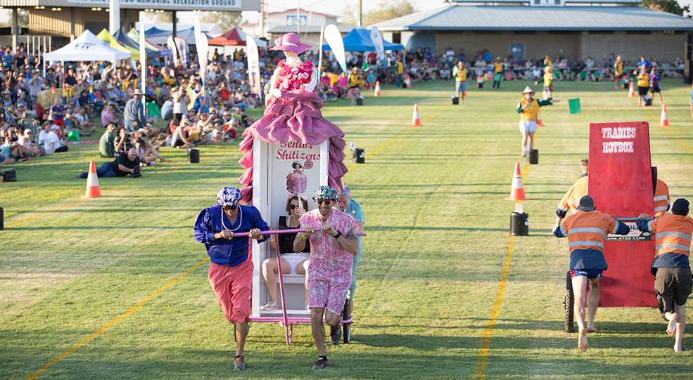 Dunny Derby Race at Outback Festival