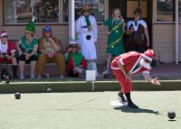 Lawn bowls with Christmas team for True Blue Outback Aussie Sports Pub Crawl