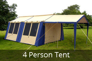 4 person Tent in Club Paterson Tent City