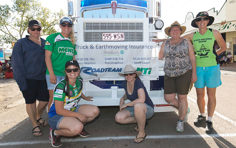 Women with Truck at Truck Pull Event