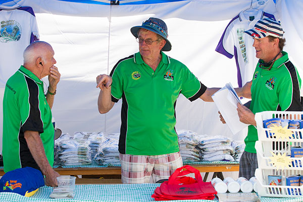 Volunteers at the Merch Tent for Outback Festival