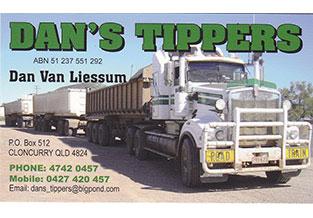 Dan's Tippers logo