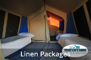 Linen Packages for tent city