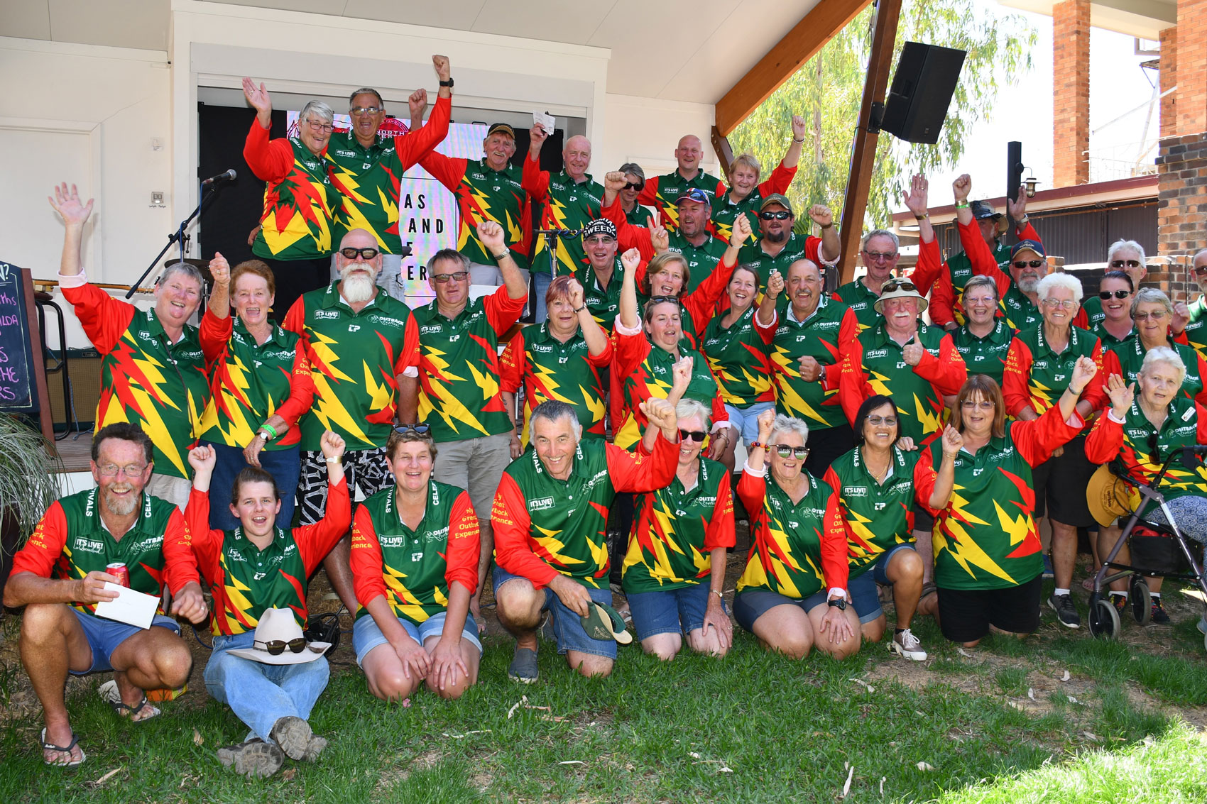 volunteers at outback festival