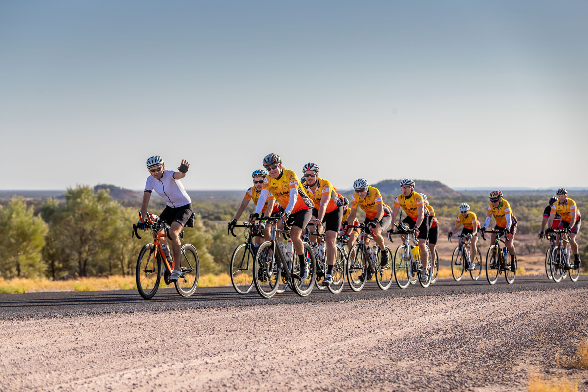 Outback Century Cycle race at Outback Festival