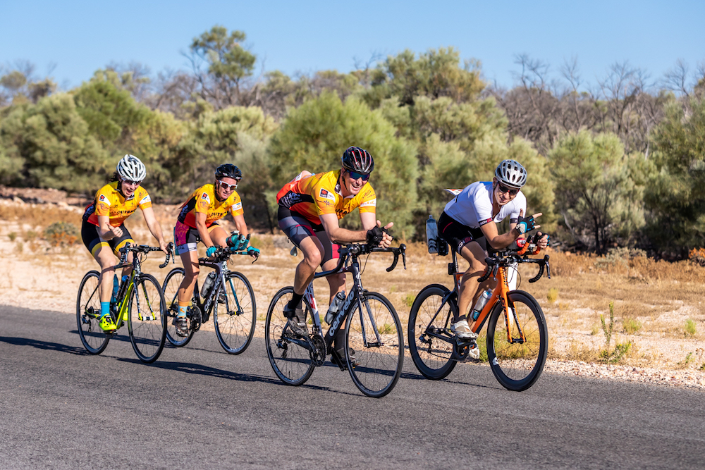 Riders in Outback Century Cycle Competition