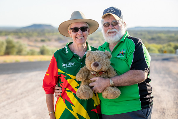 Volunteers at Outback Festival 2019