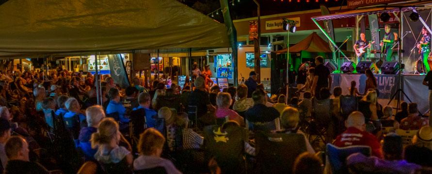 Main Street stage music at night